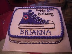 Converse Shoe birthday cake by sweet things 575, via Flickr