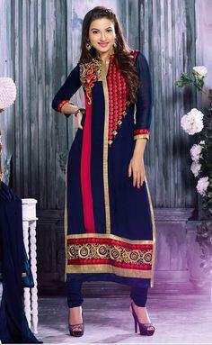 Graceful Royal #Blue #Color Salwar Kameez
