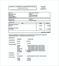 sample construction invoice templates , Construction Invoice Templates , Construction Invoice Templates Model: Things You Get To Know Having construction business without construction invoice templates sometimes may get yo...