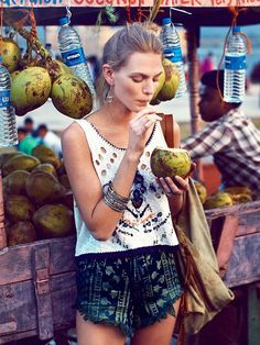 coconut stand + summer