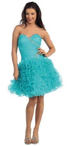 Prom DressEvening Dress under $1008493Bold Ruffles!