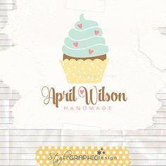 Cupcake logo design Bakery Logo Whimsical by StyleGraphicDesign