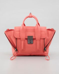 Mini Pashli Leather Satchel, Coral by 3.1 Phillip Lim at Bergdorf Goodman.