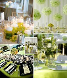 green themed wedding decor - Google Search