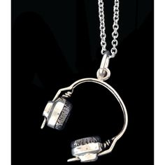 ZM925 Headphones ($48) ❤ liked on Polyvore featuring jewelry, necklaces, accessories, colar, bijoux, sterling silver, charm chain necklace, chain necklace, chain jewelry and kohl jewelry
