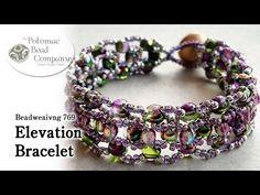 Elevation bracelet with RounDuo beads ~ Seed Bead Tutorials
