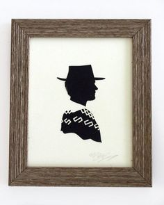 Clint Eastwood cross stitch picture...