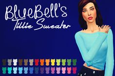 """purrsephonesimsofwonders: """" BlueBell's Tillie Sweater Recoloured As always, the colour palette is by the amazing @soaringsparrows and you should totally check their stuff out, if you haven't..."""