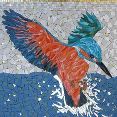 """Kingfisher by Claire Pilner """"There are very few human beings who receive the truth, complete and staggering, by instant illumination. Most of them acquire it fragment by fragment, on a small scale, by successive developments, cellularly, like a laborious mosaic."""" -Anias Nin"""