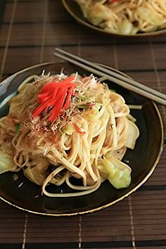 Yaki Udon (Stir-fried Japanese Udon Noodles with Pork and Vegetables), Popular Japanese Home Dish|焼きうどん