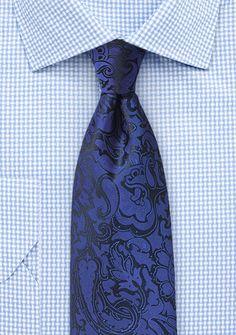 Paisley Tie in Royal Blue | Bows-N-Ties.com