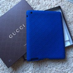 433fc0979ba0 Gucci iPad case This is Royal blue rubber made in Italy iPad case comes  with box and is in very good condition Gucci Accessories