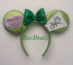 Disney Mad Hatter Minnie Mouse ears headband on Etsy, $25.00