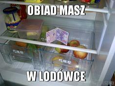 """""""Obiad w lodówce"""" Das Essen ist im Kühlschrank!"""