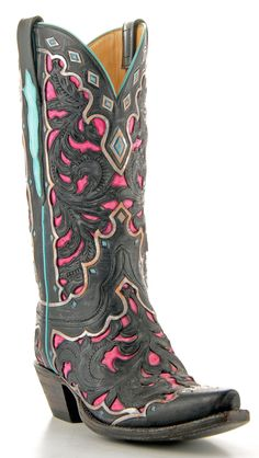 Womens Lucchese Classics Goat Boots Black #Gb9478