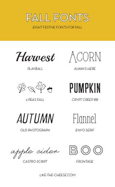 (FREE) Festive Fall Fonts | like-the-cheese.com
