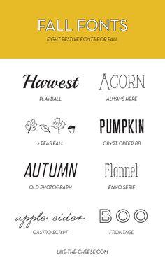 (FREE) Festive Fall Fonts