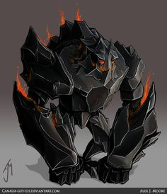 Obsidian Golem by Canada-Guy-Eh More