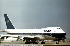 G-AWNB, 1970 Boeing 747 - BOAC flight departing London Heathrow in the Spring of Best Airlines, Cargo Airlines, Boeing Aircraft, Airbus A380, Tupolev Tu 144, Fixed Wing Aircraft, Old Planes, Airplane Photography, Aircraft Photos