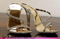 """Christopher Michael Shellis proclaims the shoe he designed as """"the most expensive in the world,"""" at $228,000 (£140,000). I guess you don't need me to tell you it's covered in diamonds (2,000). Apparently five months after its release he hasn't sold a single pair. I have a simple solution: find whoever bought this bag. I'm sure they'll be interested."""