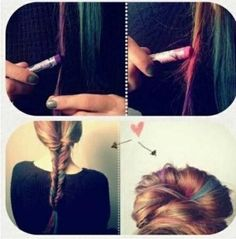 Use soft pastel chalk for temporary hair color! So gonna do this!  ... Uploaded with Pinterest Android app. Get it here: by anita hair-pelo