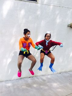 Me and my pal @ftorcuator as mermaid man and barnacle boy !