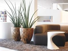Idea modern indoor plants and full size of pots for plant contemporary house artificial i . Artificial Indoor Plants, Indoor Plant Pots, Interior Design Plants, Interior Decorating, Contemporary Interior, Modern Interior Design, Room With Plants, House Plants, Decorative Planters
