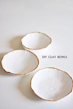DIY Easy Clay Bowls