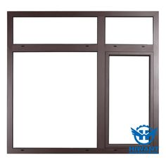 Brown color aluminium profile for windows and doors, powder coating aluminium profile from Hiwant.