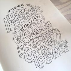 Been a while since I've done a lettered quote. This is for a little upcoming project. Also good to work on paper more!