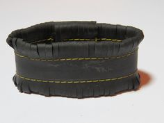 Tenha Tyre Bracelet. Recycled fashion handmade bracelet from bicycle tire tubes. $26