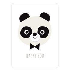 NEW ! Carte panda Paul Happy you   Zü