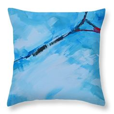 """Serendipity No.5 And 6 Abstract Painting Throw Pillow 14"""" x 14"""" #throwpillow #homedecor"""