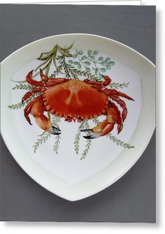 866 6 Part Of Crab Set 866 Greeting Card by Wilma Manhardt