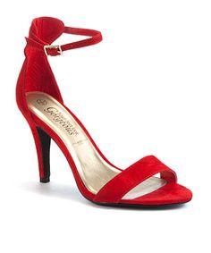 Red Mid Heels