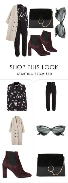 """""""street style!!! #16"""" by mdoraki ❤ liked on Polyvore featuring Valentino, Vetements, Yves Saint Laurent and Chloé"""
