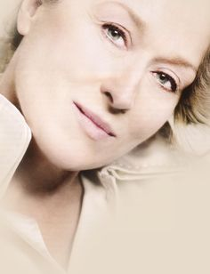 "Meryl Streep posing for ""Marie Claire"""
