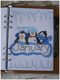 journal - January 2019 Bullet journal monthly cover January - January 30 January 30 is the day of the year in the Gregorian calendar. 335 days remain until the end of the year in leap years). Bullet Journal Vidéo, Minimalist Bullet Journal, Bullet Journal Monthly Spread, January Bullet Journal, Bullet Journal Cover Page, Bullet Journal Ideas Pages, Bullet Journal Layout, Journal Covers, Bullet Journal Inspiration