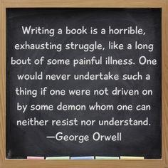 Well sometimes...other times it's like heaven.  --Laura Davis & The Writer's Journey www.lauradavis.net