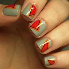 I swear, The Nailasaurus always has the BEST nail designs. I am never not amazed. | The Nailasaurus: Banish the Blues: A Very Good Place To Start