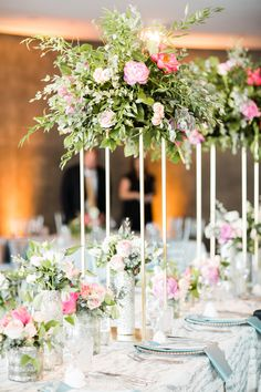 You're going to fall in love with this DFW wedding floral design! Kristin and Michael's special day was one for the books. Take a look at the gallery here! Wedding Night, Wedding Table, Summer Wedding, Wedding Reception, Floral Wedding, Wedding Colors, Wedding Flowers, Flower Centerpieces, Table Centerpieces