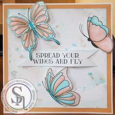 Another card from the launch of the Spectrum Noir Sparkle pens. Stamp set is Flights of Fantasy from Crafter's Companion. More details can be found at http://stampingbubbles.blogspot.co.uk/2015/10/spread-your-wings.html