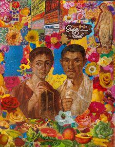 Felipe Cardeña, The Last Memories, 2013, collage su tela, 50x40.