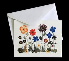 Pressed Flower Cards - set of 6 notecards - All occasion cards