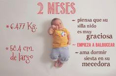 Fotos originales para documentar el crecimiento de tu bebé