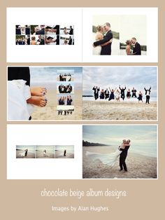 Michelle & Damien - 14x10 flushmount wedding album, images by Alan Hughes Photography, album printed by Photo Mounts and Albums. www.chocolatebeigedesigns.com.au
