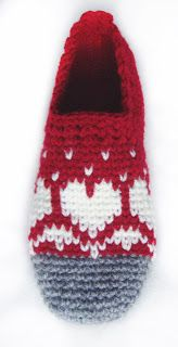 These slippers are designed for the pure joy of being able to knit colored patterns with my hook! Skill level: Intermediate.  Not difficult, just different!  Crucial skill: You need to understand colored pattern-charts, like in knitting, or cross-stitch embroidery. ~ Sophie and Me