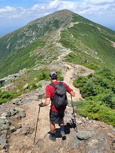 Picture of a hiker on Franconia Ridge, White Mountains, New Hampshire