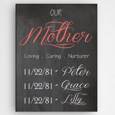 Special Mother Custom Personalized Wall Canvas