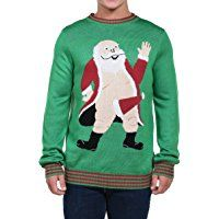 Tipsy Elves Men's South Pole Christmas Sweater - Funny Santa's Boner Ugly Christmas Sweater